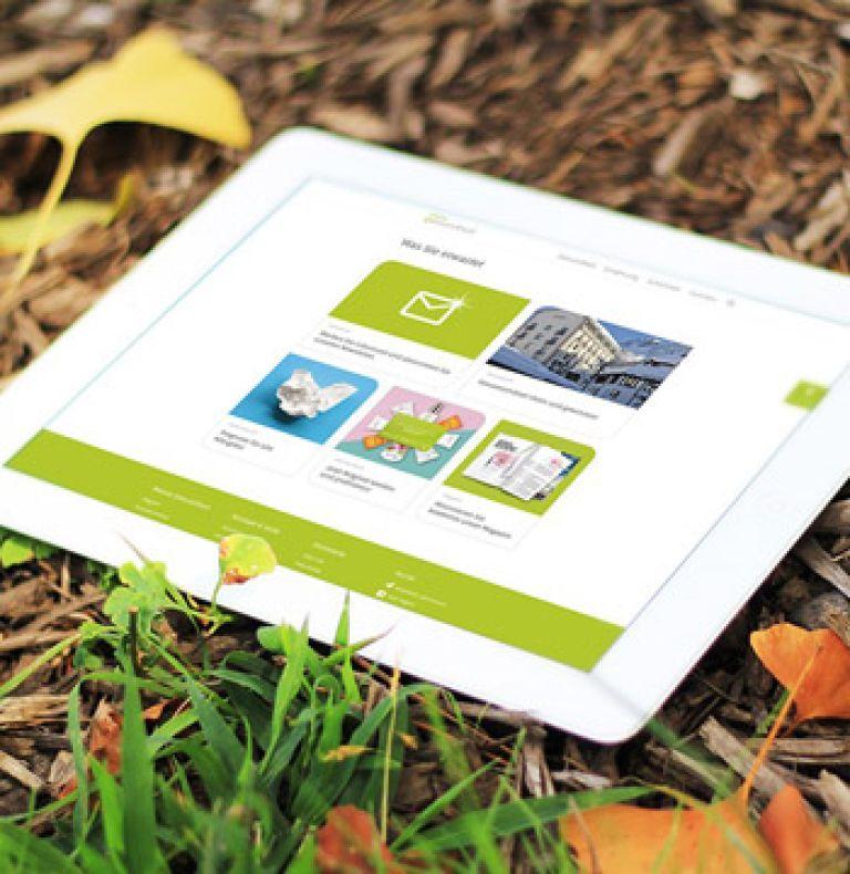 Werbung Page Tablet