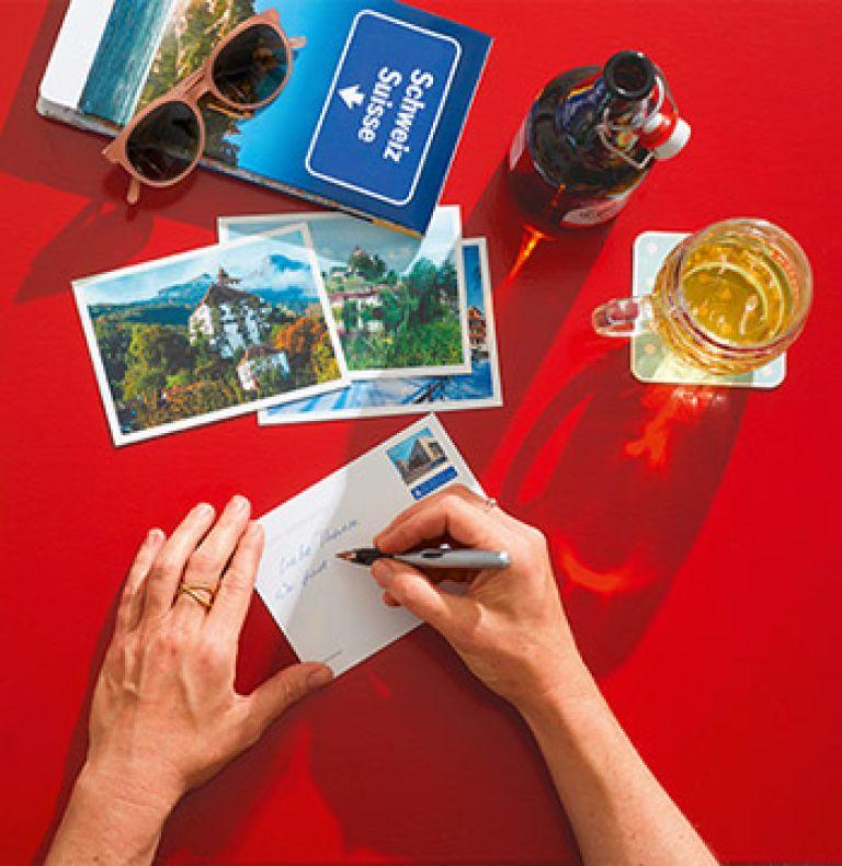 Postkarte Reisen Schweiz
