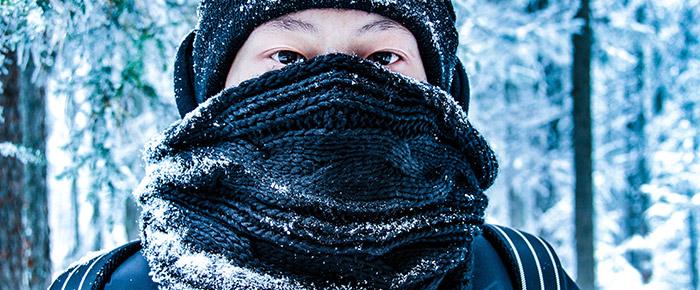 Winter Halsschmerzen